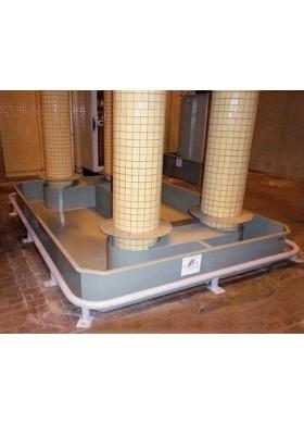 Bacs de rétention acier sur mesure pour transformateur électrique