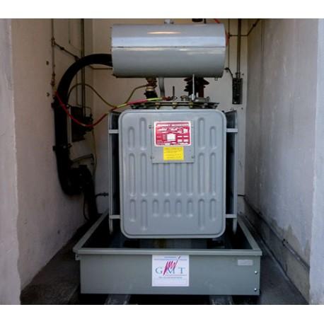 Bac de rétention acier pour transformateur électrique