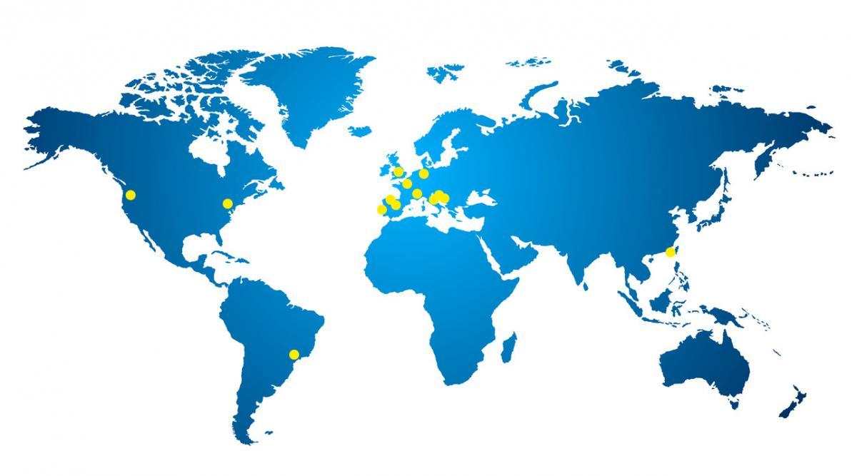 Implantations du Groupe GMT dans le monde