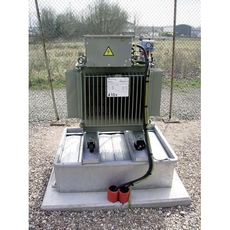 Bac de rétention anti-feu acier pour transformateur électrique