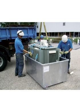Bacs de rétention pour transport ADR de transformateur électrique