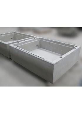 Bacs de rétention béton sur mesure pour transformateurs électriques et autres appareils sous tension.