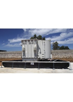 Bac de rétention temporaire haute résistance pour transformateur électrique