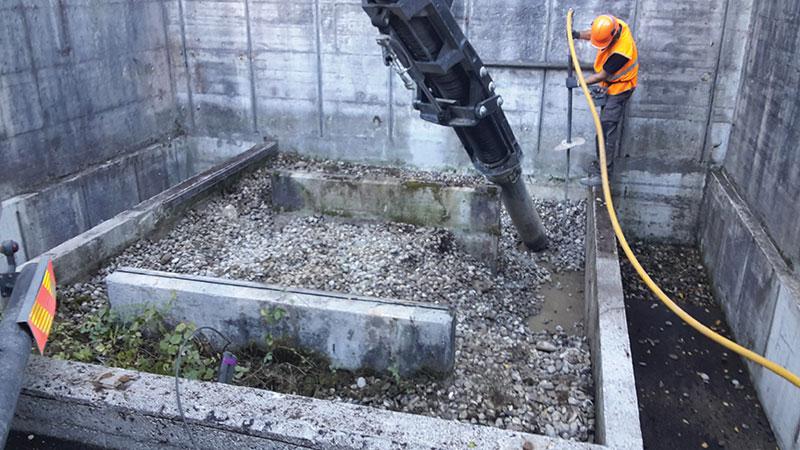 Dépollution de fosse sous transformateur électrique