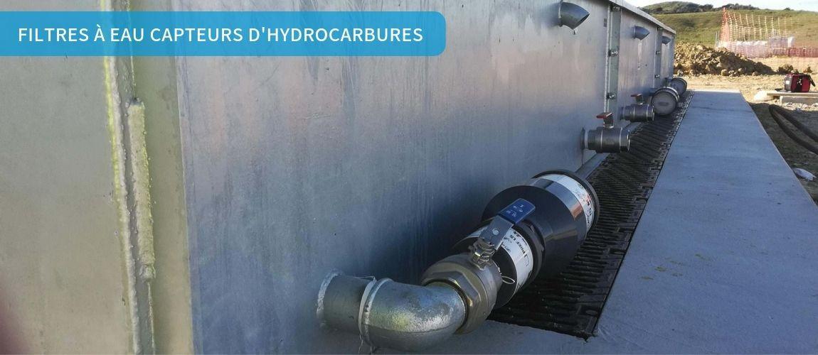 Filtres à eau capteurs d'hydrocarbures